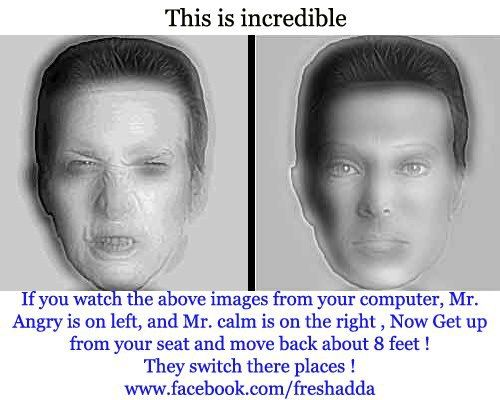 that is so weird also if you cross your eyes and look at them they will switch too! its so strange!