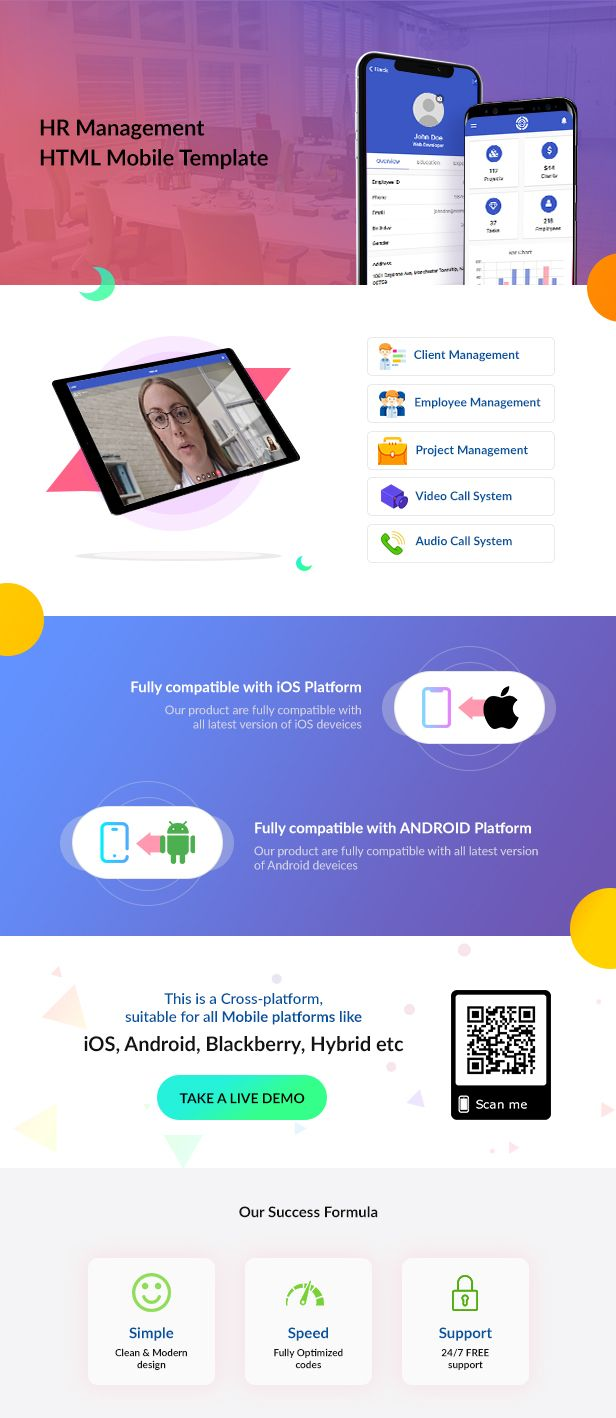 Dhr Html Mobile Template Website Templates Pinterest And