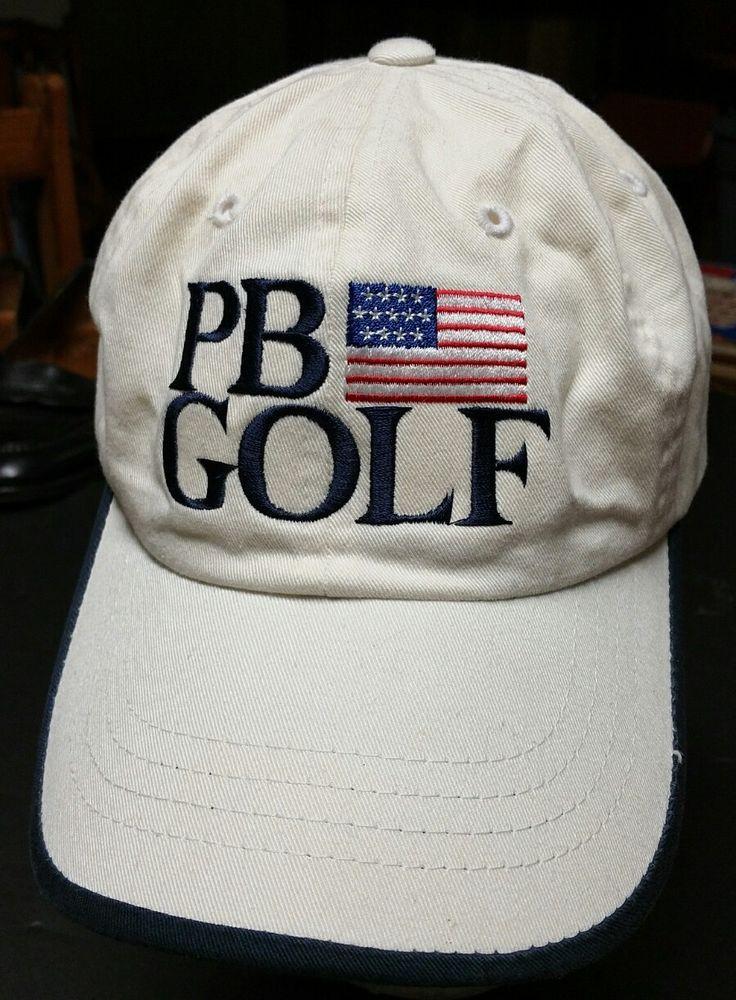 ddb6cd9d8b1e9 PB Golf Pebble Beach Adjustable Cap Hat White sewn