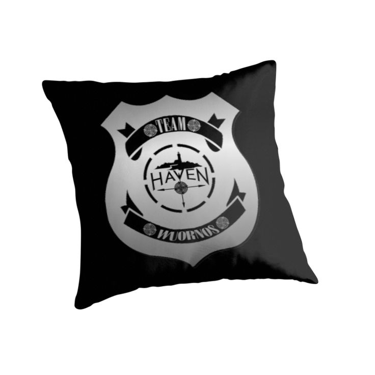 Haven Syfy Inspired Pillow |  Haven Team Wuornos Silver Police Badge Logo