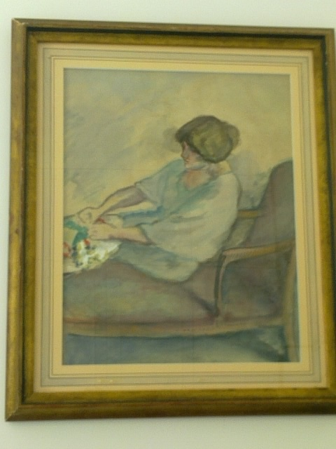 Alfred Lombard painting of his wife (1905) bought in Aix en Provence in December 2011