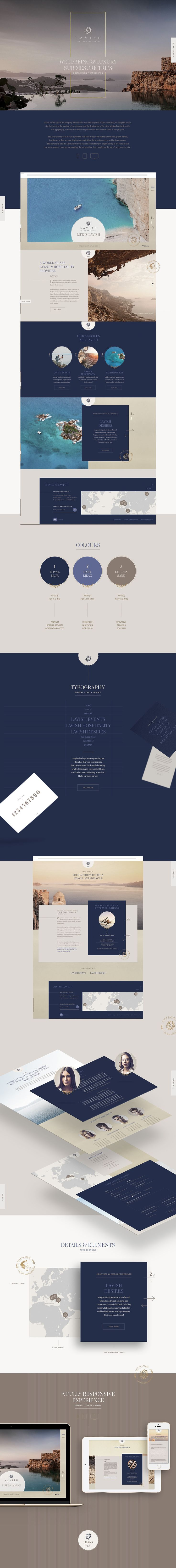 Lavish Website on Behance