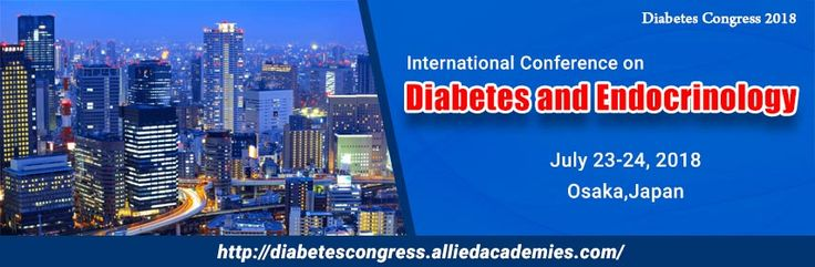 Allied Academies officially welcomes you to attend the International Conference on Diabetes and Endocrinology during July 23-24, 2018 Osaka, Japan. Diabetes congress 2018 conference will focus on the latest and exciting innovations in all areas of Diabetes and Endocrinology research offering a unique opportunity for investigators across the globe to meet, network, and perceive new scientific innovations.