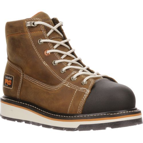 Timberland Men's PRO Gridworks 6 in Work Boots (Beige Or Khaki, Size 11) - Lace-Up Work Boots at Academy Sports