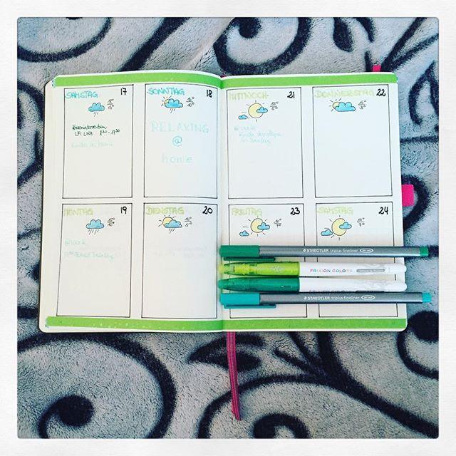 my next week ... 😊 it's green 🍀 💮 #leuchtturm1917 #bujo #bujojunkies #bujolove #bulletjournal #bulletjournaling #bulletjournaljunkies #bulletjournallove #bulletjournalnewbie #planner #plannerlove #plannergirl #planneraddicted #panninginspiration4u #bulletjournalcollection