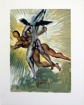 Dali - Devine Comedy = Purgatory - The Guardian Angels of the Valley