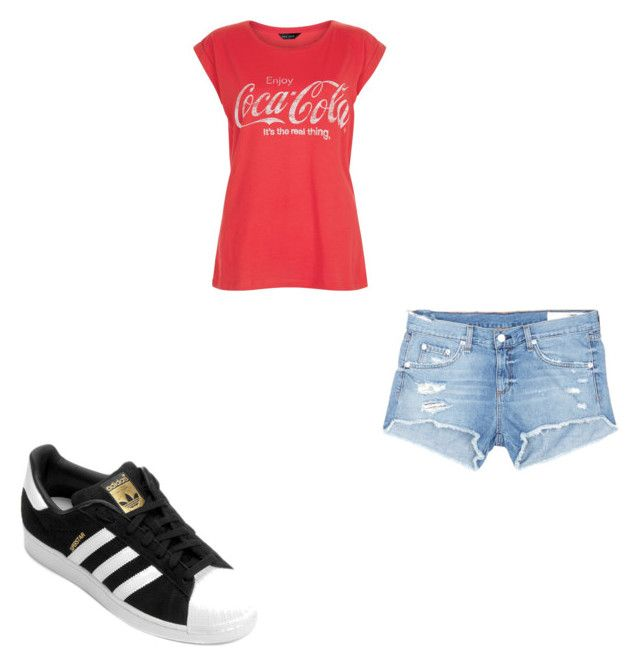 """#417"" by aureeliet on Polyvore featuring adidas, New Look and rag & bone/JEAN"