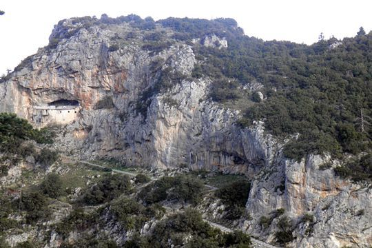 Bezeniko Castle at Menalon mountain Tripoli town Arcadia Peloponnese