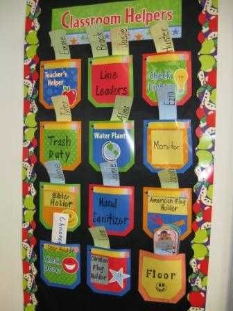 Classroom helpers - kindergarten classroom idea