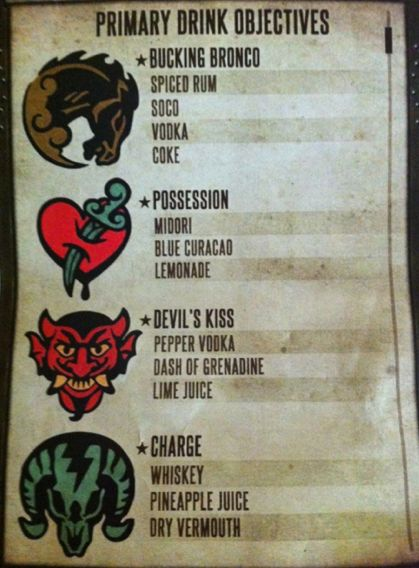 Bioshock Infinite Mixed Drinks!!