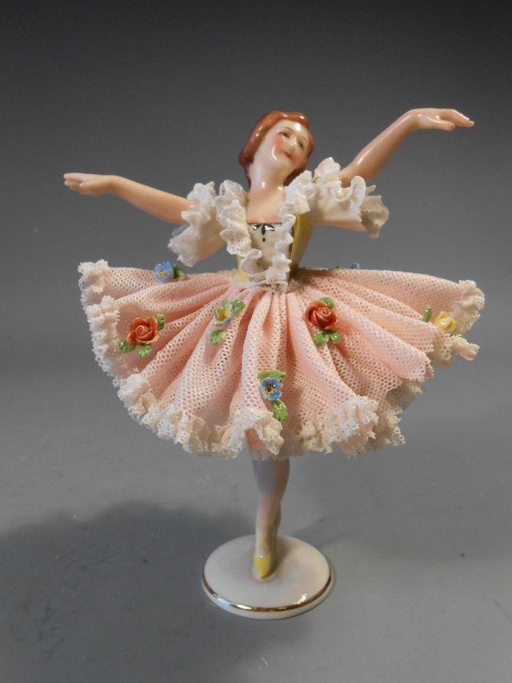 Fine German Germany Dresden Porcelain Ballerina Figurine CA 20th Century