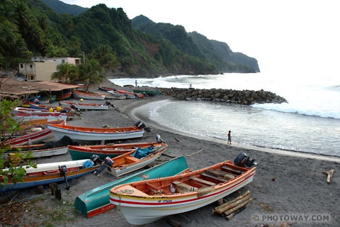 Grand Riviere, Martinique.  The fishing village where I spent so much delightful childish time.