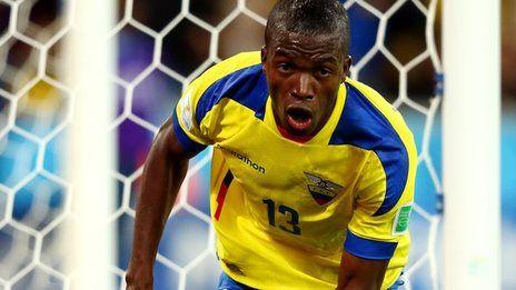 Enner Valencia scored both goals as Ecuador left Honduras on the verge of exiting the Fifa 2014 World Cup.