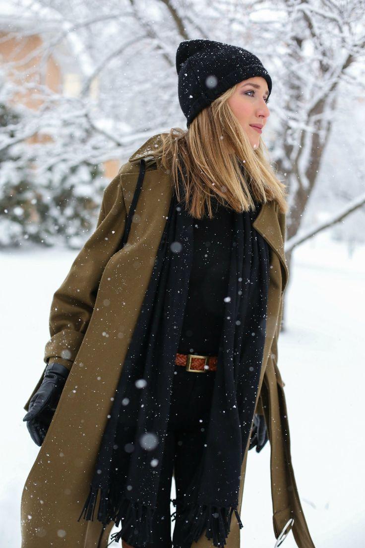 follow me @cushite oliwkowo-long-maxi-wełna-coat-czarno-zimowa-brązowo-over-the-podkolanówki buty czarne dżinsy-golf-snow-fashion-blogger9