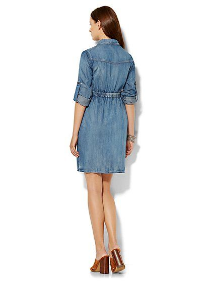 Soho Jeans - Super-Soft Chambray Shirtdress - New York & Company