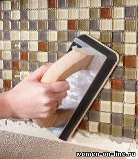 Кухонный фартук из плитки своими руками