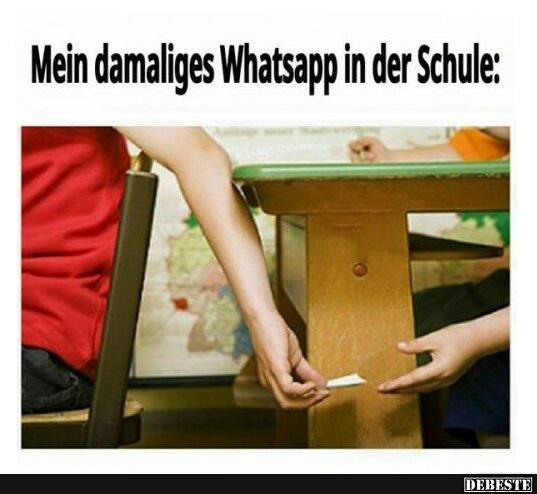 Mein damaliges Whatsapp in der Schule..