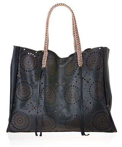 Black Lace Tote Bag by Callista Crafts