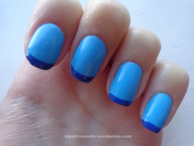 Blue French Manicure #nailart