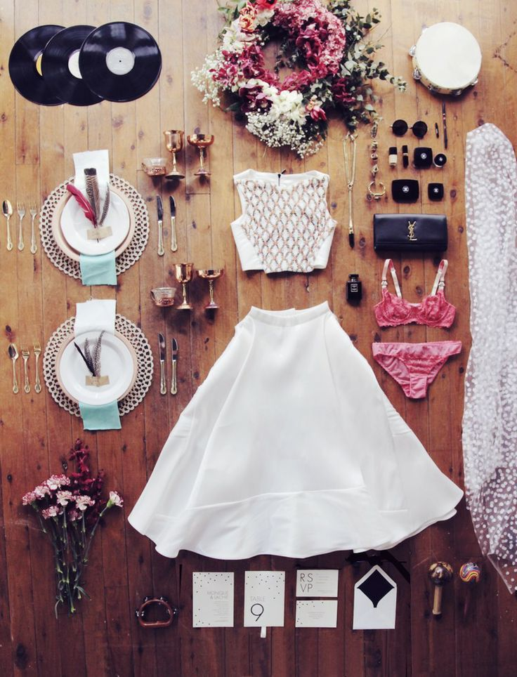 Festival Bride / Flat Lay styled by The LANE (instagram: the_lane)
