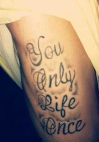 Ouch! The only thing worse than a painful #tattoos, is a painfully mis-spelled tattoos! #joke #comedy