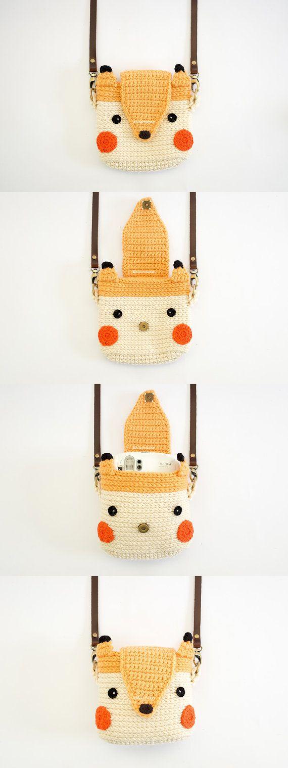 Crochet de cas pour Fuji Instax Camera Fox mignon par meemanan                                                                                                                                                                                 More