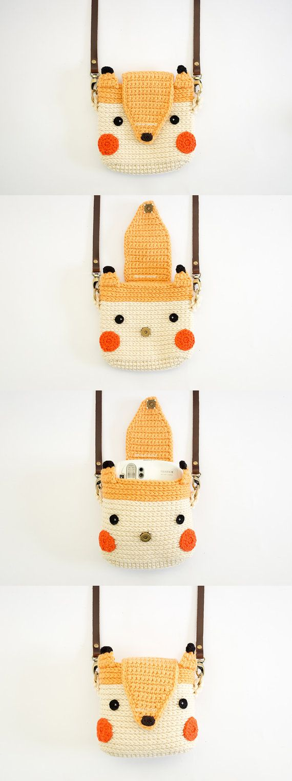 Crochet Case for Fuji Instax Camera Cute Fox by Meemanan on Etsy