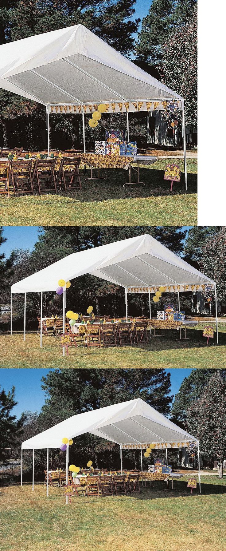 Lancaster pa prefab 2 car garage and 2 story garage manufacturer gears - Marquees And Tents 180994 New Hercules Carport Canopy Shelter 18 X 20 Portable Garage White