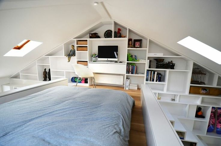 Loft living in London      Share on Facebook     Tweet     Share on Pinterest  Loft living in London      Share on Facebook     Tweet     Share on Pinterest  Maximise small and unusual spaces with plenty of interesting knick knacks displayed on shelving units.