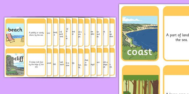 * NEW * KS1 Geography Keyword Matching Cards with Picture Prompts