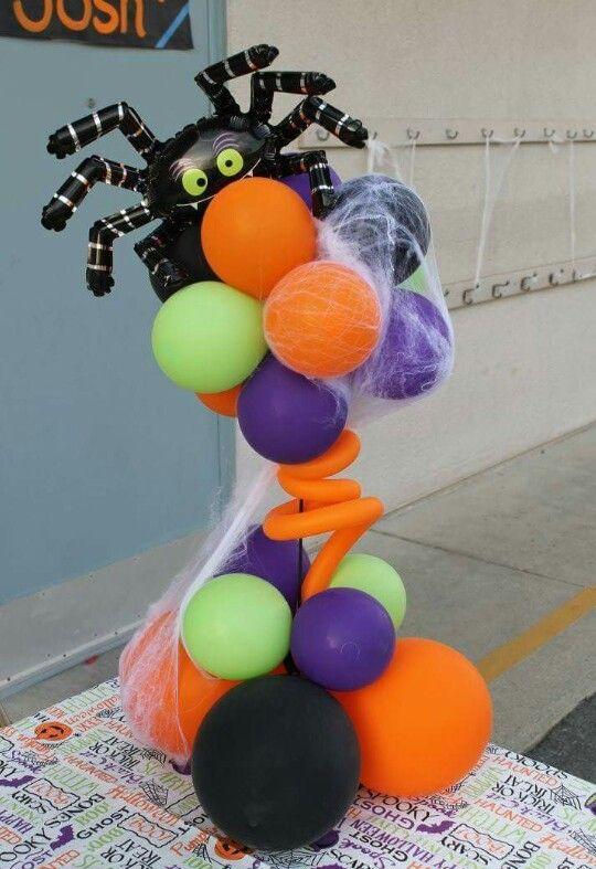 272 best halloween balloon board images on pinterest for Balloon decoration for halloween