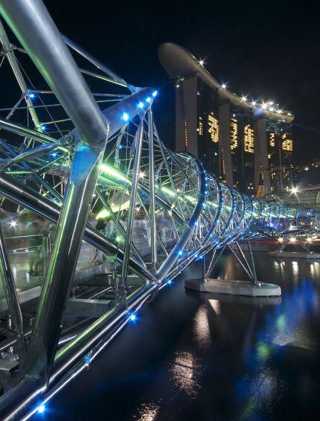 #Puente Hélice en Singapur