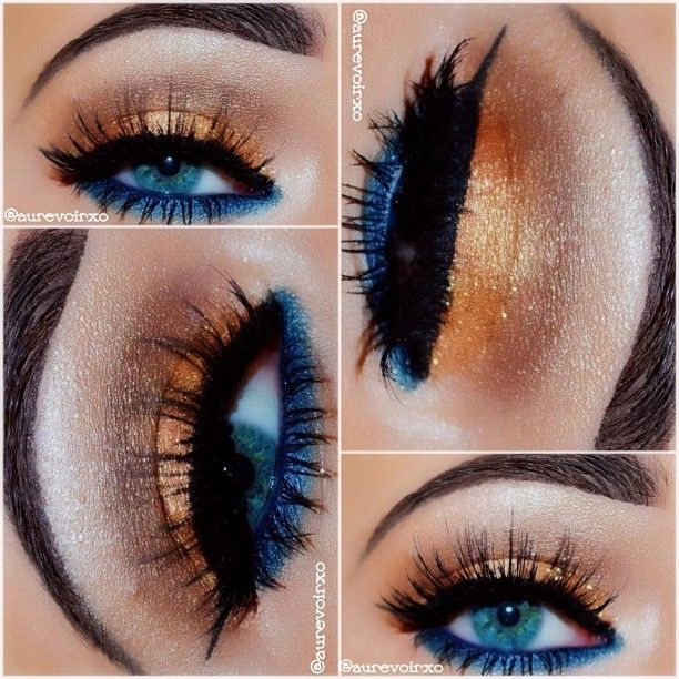 Complimentary colors eye makeup @aurevoirxo used #Candy Coin for this gorgeous look. - @eyekandycosmetics- #webstagram
