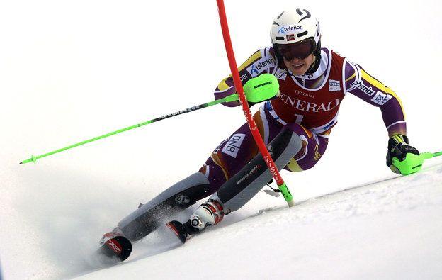 Shinichiro Tanaka - AP Henrik Kristoffersen competes during the first run of an alpine ski, men's World Cup slalom race, in Levi, Finland, Sunday, Nov. 16, 2014. (AP Photo/Shinichiro Tanaka)