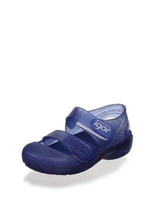 60% OFF igor Kid's Bondi Bump-Toe Jelly (Navy)