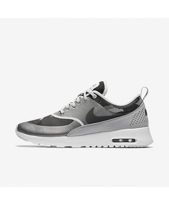 f4f5e3a2daf4 Nike Air Max Thea Jacquard Pure Platinum Wolf Grey Black Shoes