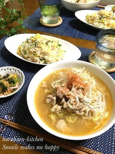 味噌ラーメンとチャーハンの黄金コンビ♡ by はるはるさん | レシピ ...