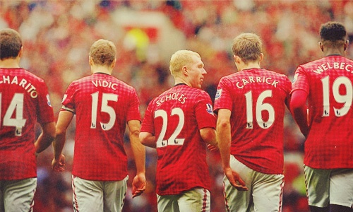 United - Chicharito, Vidic, Scholes, Carrick, Welbeck