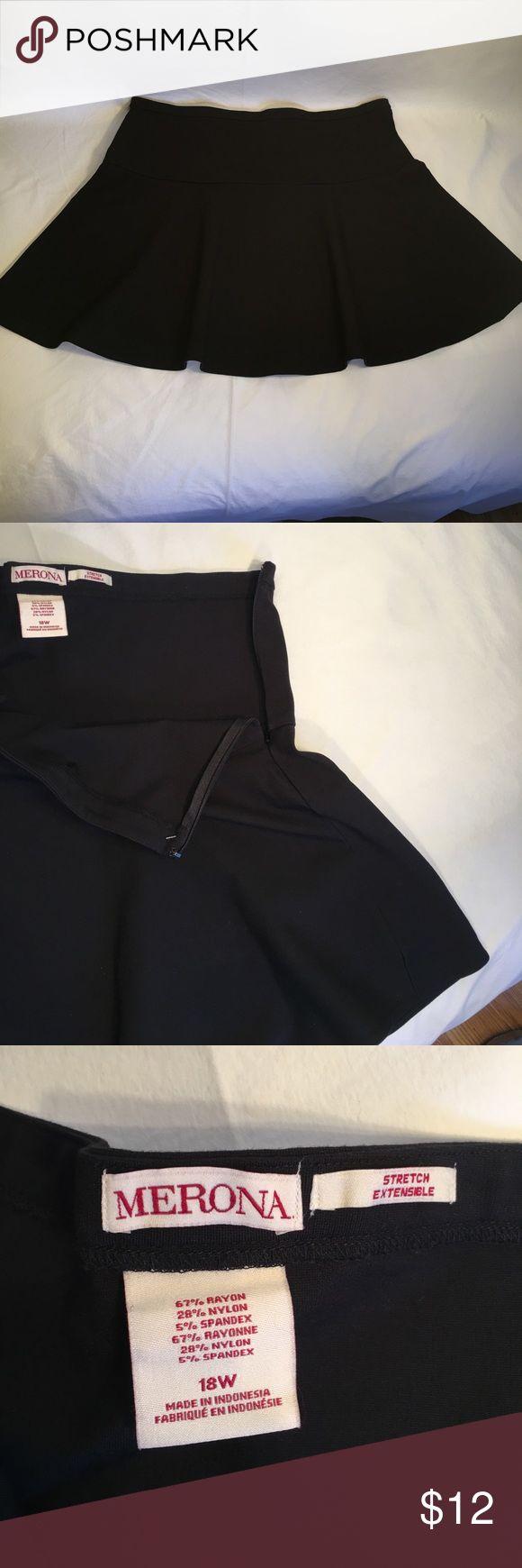 Plus size Merona black circle skirt Plus size Merona black circle skirt Worn once 19 in from waistband to bottom hem Merona Skirts Circle & Skater