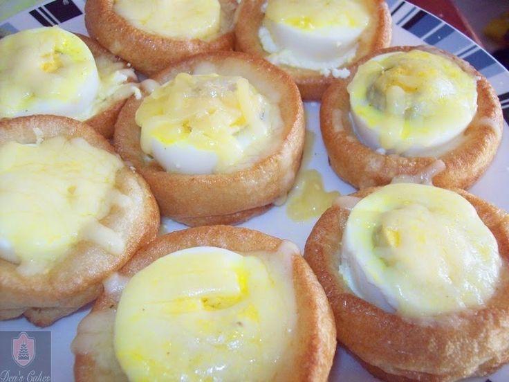 Dea's Cakes: Yorkshire Pudding cu oua si cascaval-Yorkshire Pud...