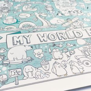 Colouring Poster – World Map