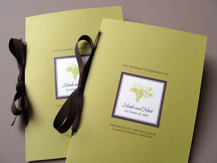 Winery wedding invite
