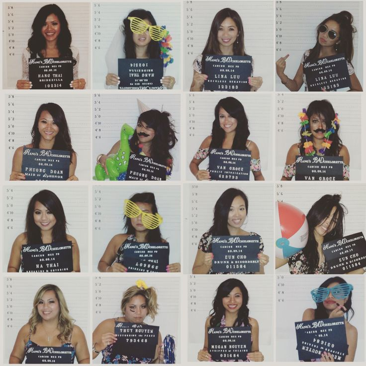 Bachelorette Party Mugshots - Bachelorette Photo Ideas. Before and after mugshots. Girls Night Out