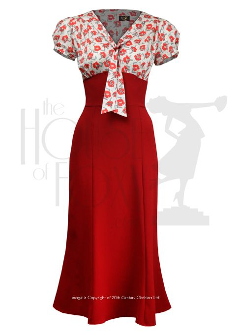 1930s Sweet Thing Dress - poppy