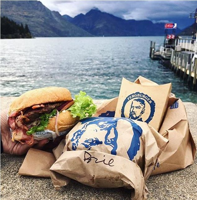 Signs you have been backpacking in New Zealand? A photo of a Fergburger in Queenstown!