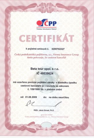 Náš certifikát