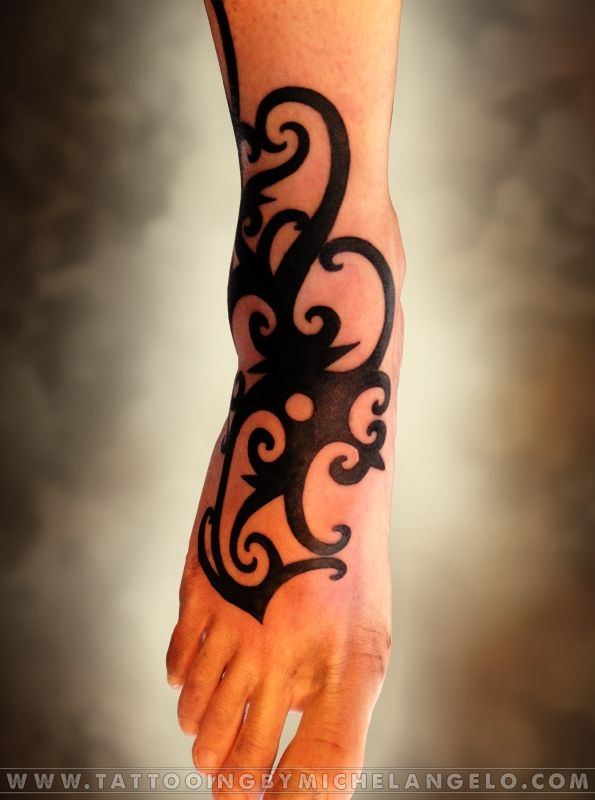 Piede Borneo   stile borneo cover up blackwork    Tattoo by Michelangelo   Tribal tattoos   Tatuaggi tribali