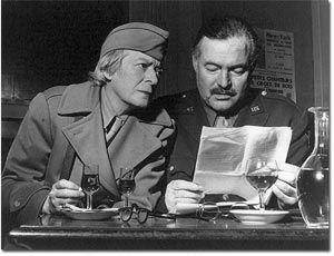 Ernest Miller Hemingway enjoying cafe culture at Le Deux Magots, Paris
