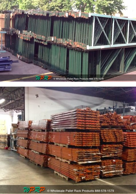 #MaterialHandling Used Sturdibilt and Ridg-U-Rak Hook & Slot Pallet Rack For Sale! Frames have some rust. Contact us for a quote! http://www.wprpwholesalepalletrack.com