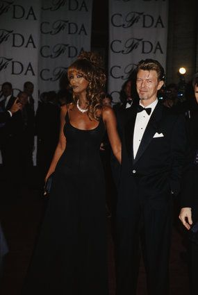 David Bowie and Iman Style-At the CFDA Awards in 1993